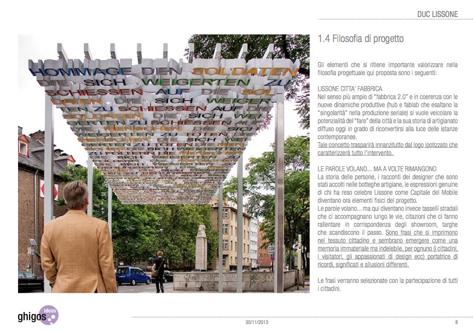 Nasce lissone design programma di intervento del for Negozi di arredamento del distretto di design dallas