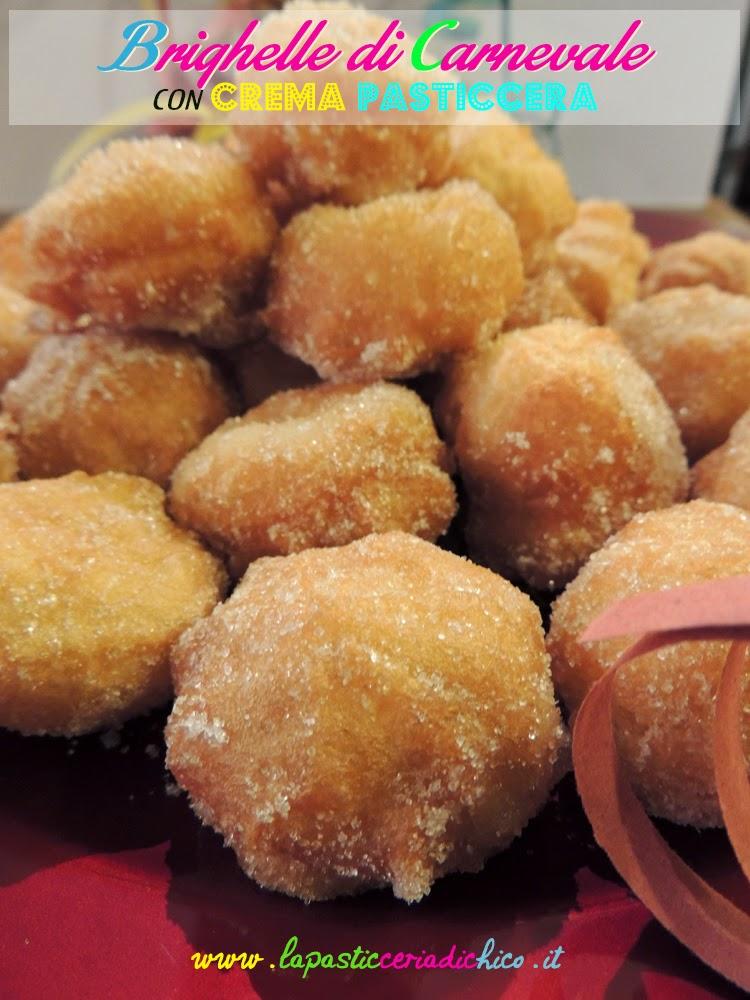 Brighelle di carnevale con crema pasticcera - www.lapasticeriadichico.it