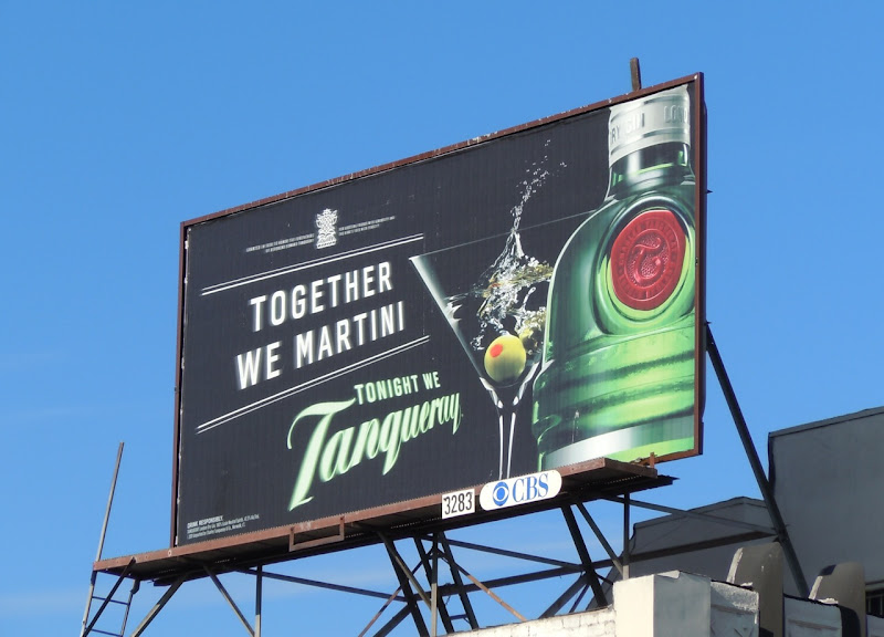 Tanqueray Together we martini billboard