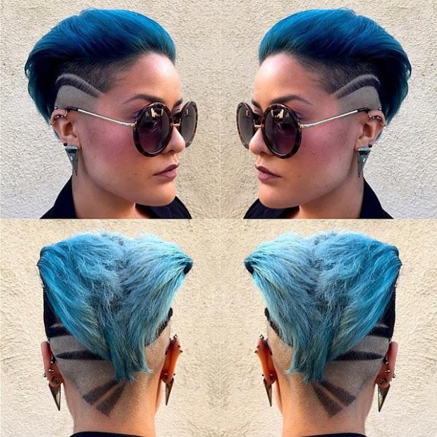 stylish hair tattoos girls