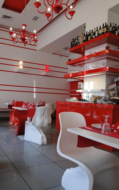 Interior of Bianco Rosso Pasteria Lviv Ukraine