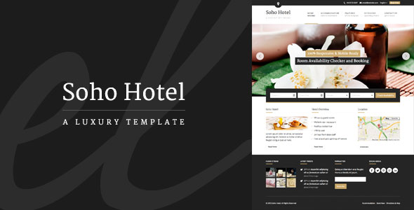 Free Download Soho Hotel V1.9.7 Responsive Hotel Booking WP Theme