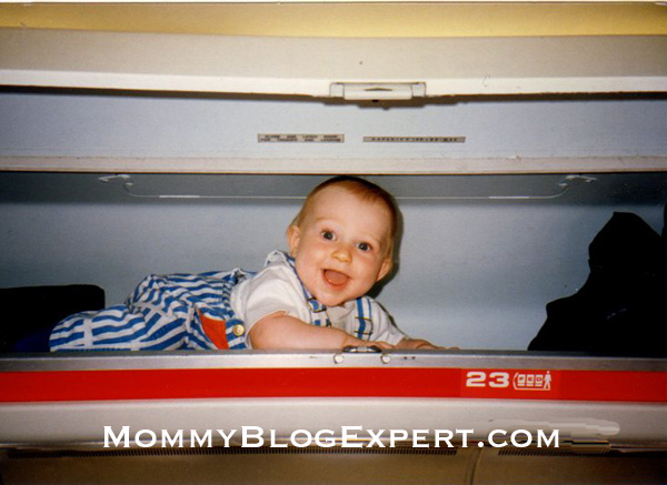 children  overhead compartments 