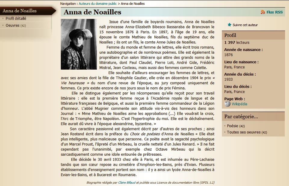 'Anna de Noailles'