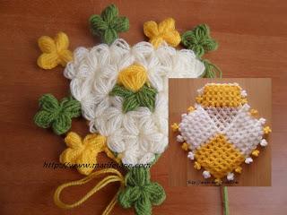 Lif Kenarına Çiçek Motifi
