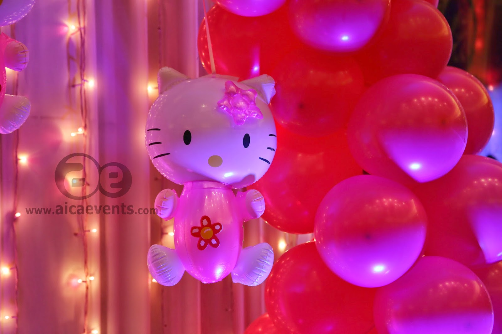 aicaevents Kitty Theme Birthday party for Baby Girls
