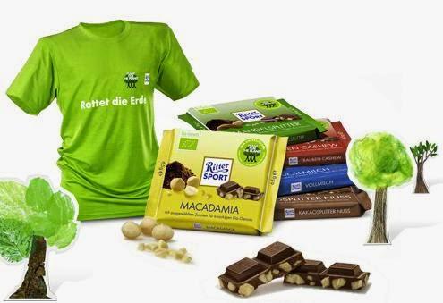 Ritter Sport   un T-shirt, des tablettes de chocolat et autres cadeaux