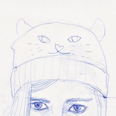 Skizze Katzenmütze