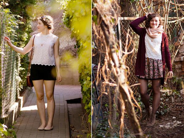 Remix: wearing a white blouse through the seasons