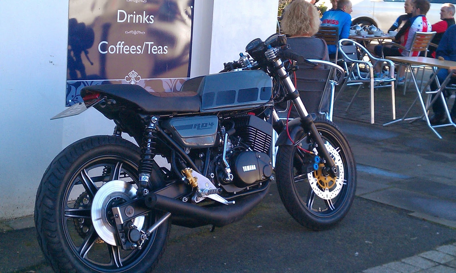 Rd400 cafe racer for Eagle motors hamilton ohio