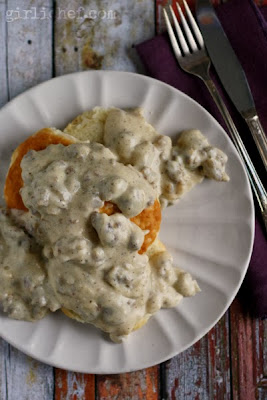Biscuits 'n Gravy (w/ All Natural Honey Hype Spice) from www.girlichef.com