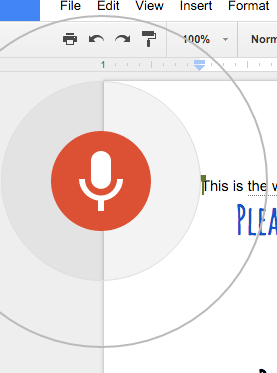 how to use voice typing on google docs