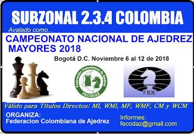 Subzonal 2.3.4 - Campeonato Nacional Ajedrez Mayores 2018 (Dar clic a la imagen)