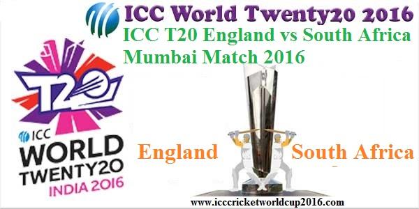 ICC T20 England vs South Africa Mumbai Match Result 2016