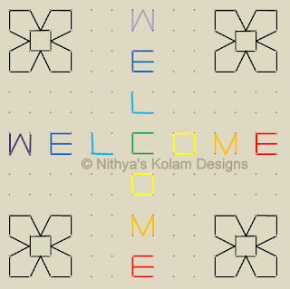 4 Welcome kolam Dots 14 x 14