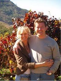 Helga und Peter J. König im Gespräch mit  Stefanie und Thomas Curry,  Curry Premium Wines OHG