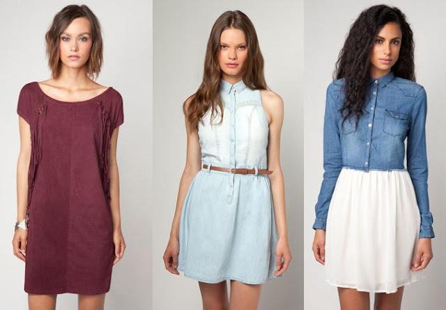 vestidos diferentes e innovadores de bershka