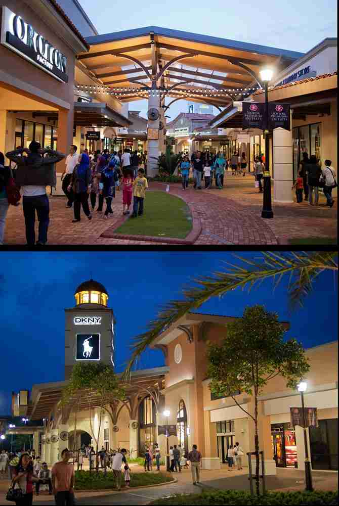 Johor Premium Outlets - night shopping