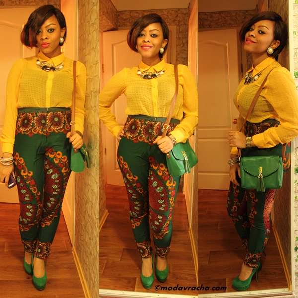 latest ankara trouser styles