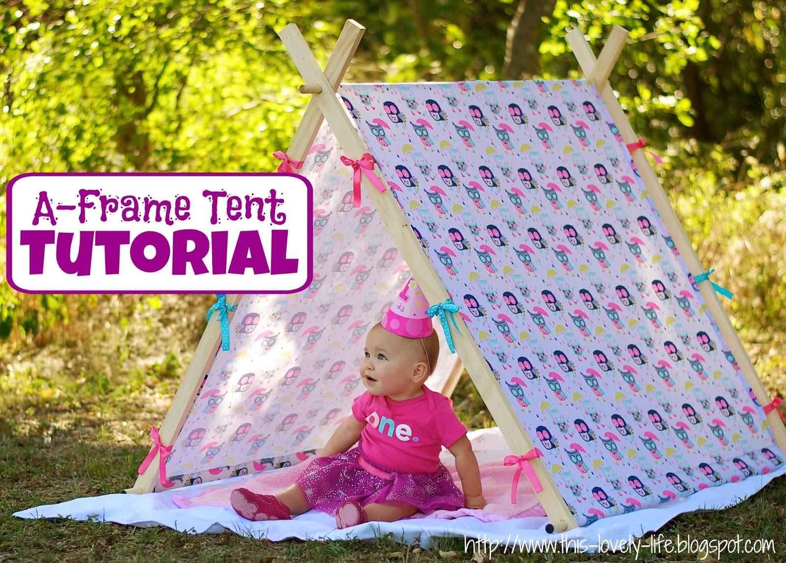 A-frame tent tutorial