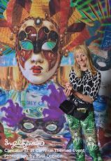 Ingrid Sylvestre - caricaturist at Carnival Themed Event