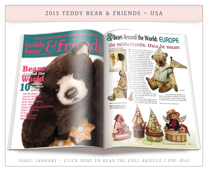 2015 Teddy Bear & Friends Issue January