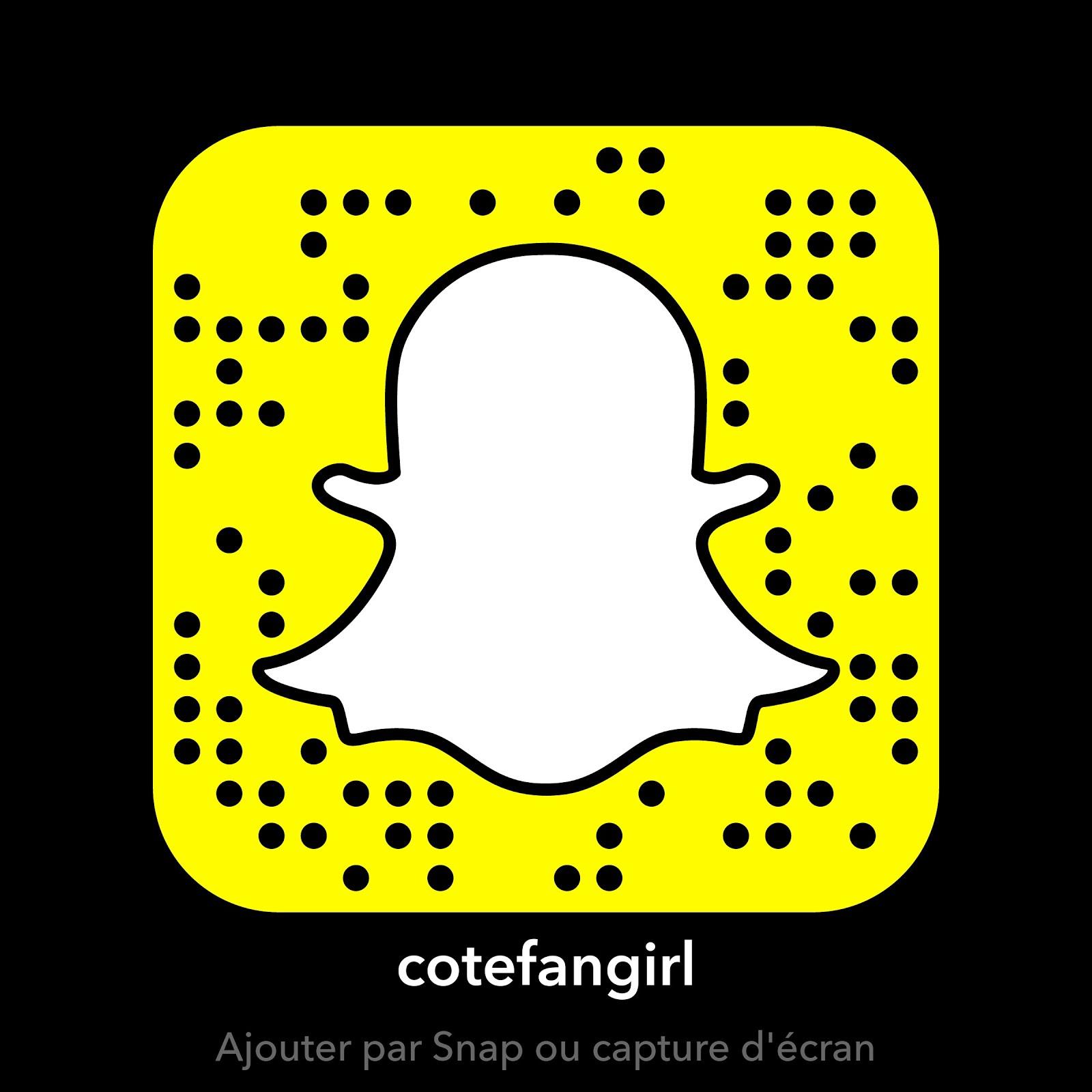 Ajoutez-nous sur Snapchat !