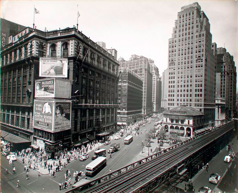 Herald Square, 34th and Broadway, Manhattan, 1936 ~ vintage everyday