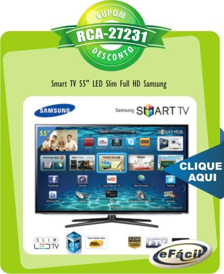 Cupom Efácil - Smart TV 55 LED Slim Full HD Samsung UN55ES6100
