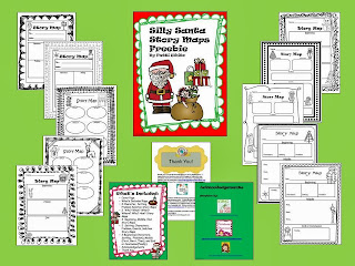 http://www.teacherspayteachers.com/Product/Silly-Santa-Story-Maps-Freebie-998577