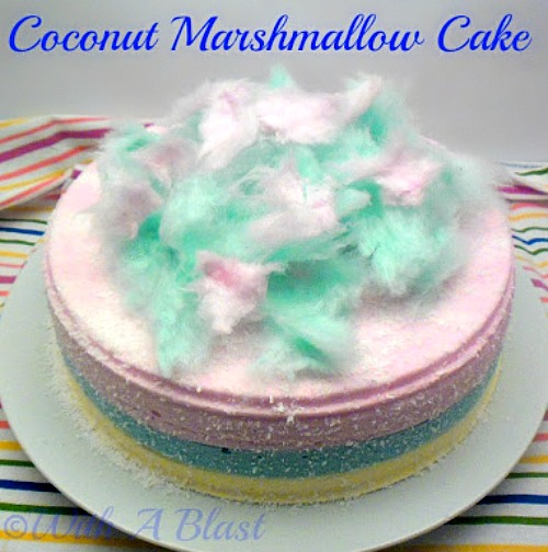 Coconut Marshmallow Cake perfect for Easter - crowd pleaser ! www.withablast.net