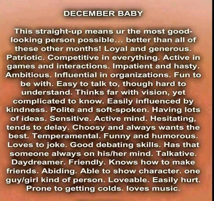 December born baby