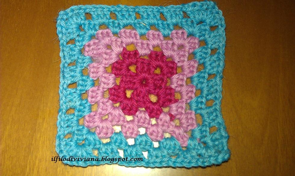 Il filo di viviana coperta facilmente uncinetto 3 quadrato for Come costruire un aggiunta coperta