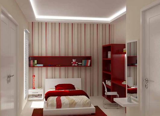 Kamar tidur kecil agar terasa lebih besar