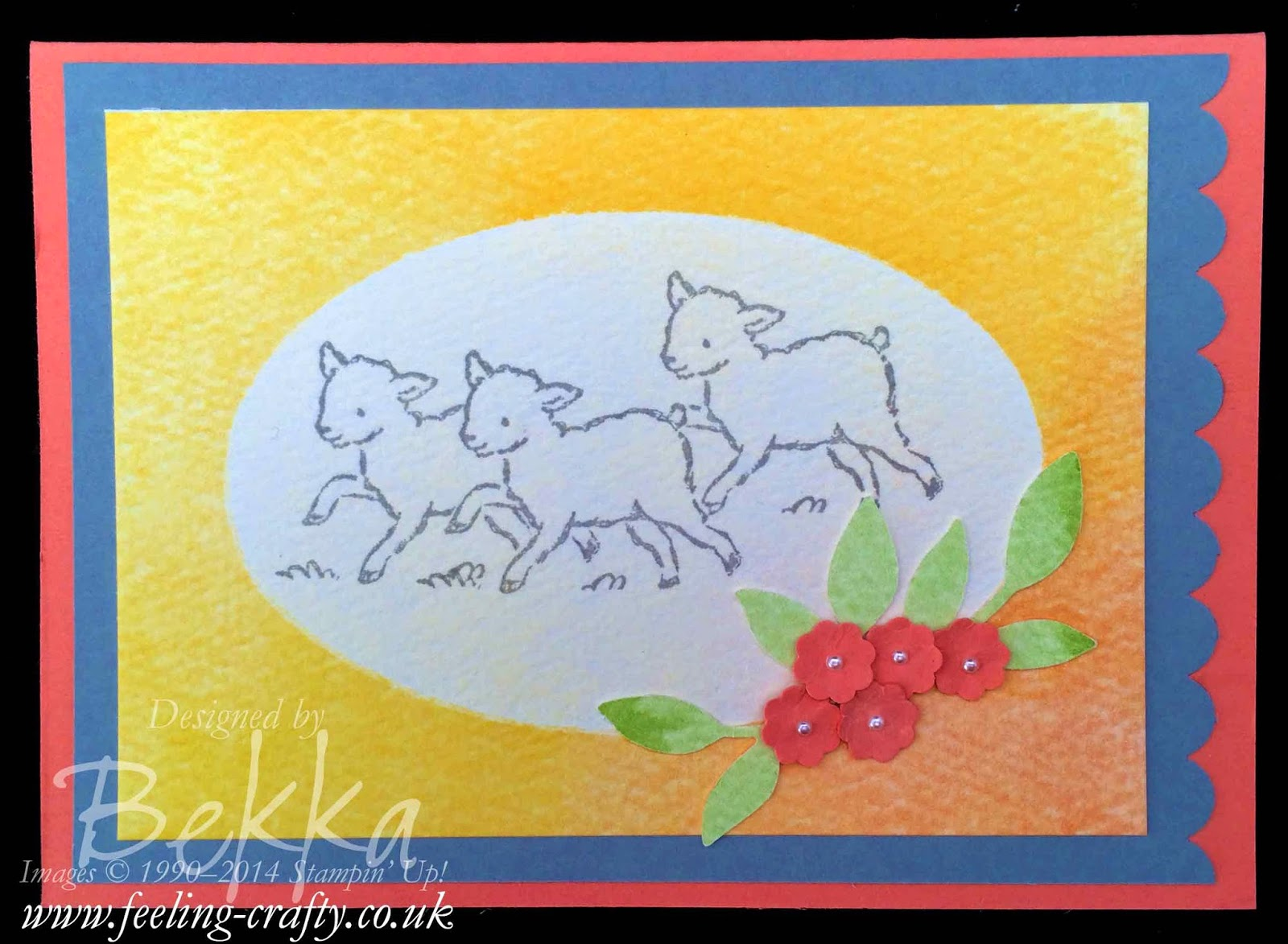 Counting Sheep - A Storybook Friends Card by UK Stampin' Up! Demo Bekka - she taught this at a class check it out here