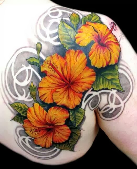FabDiva: Hibiscus Tattoos / Flower Tattoos /Girl Tattoo