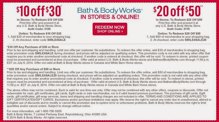 Bath and body works printable coupons 2018 october