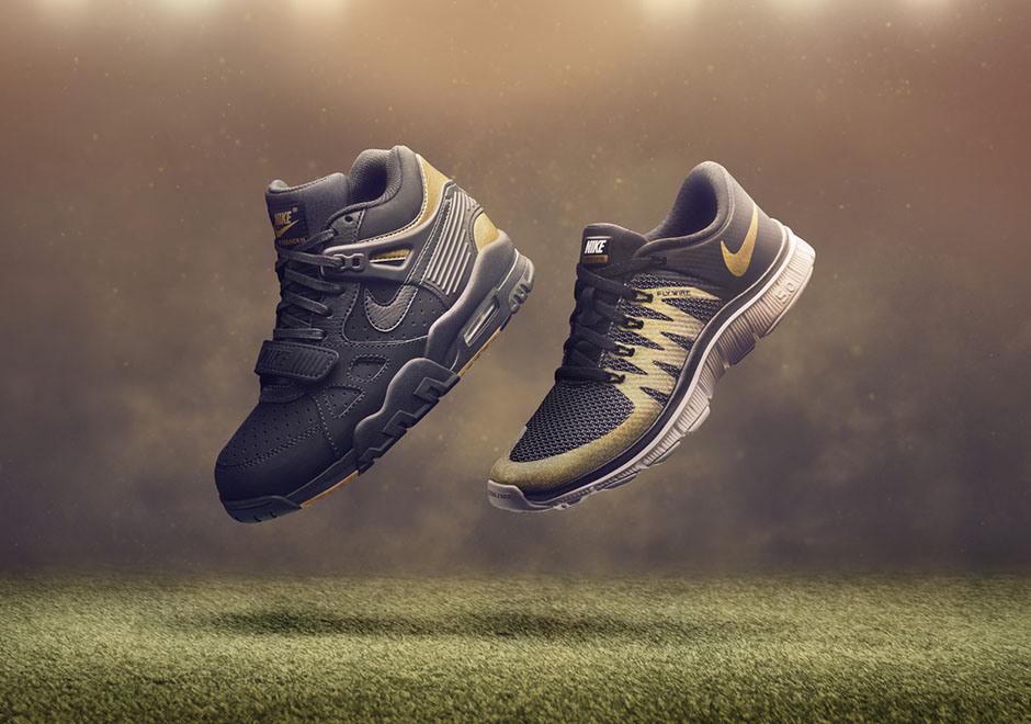 """online store 24504 24017 Las zapatillas """"Air Trainer 1"""" y """"Air Max 1"""" están envueltas en lámina de  oro, mientras que los modelos """"Ultra XT"""" y """"Air Huarache"""" optaron por una  ..."""