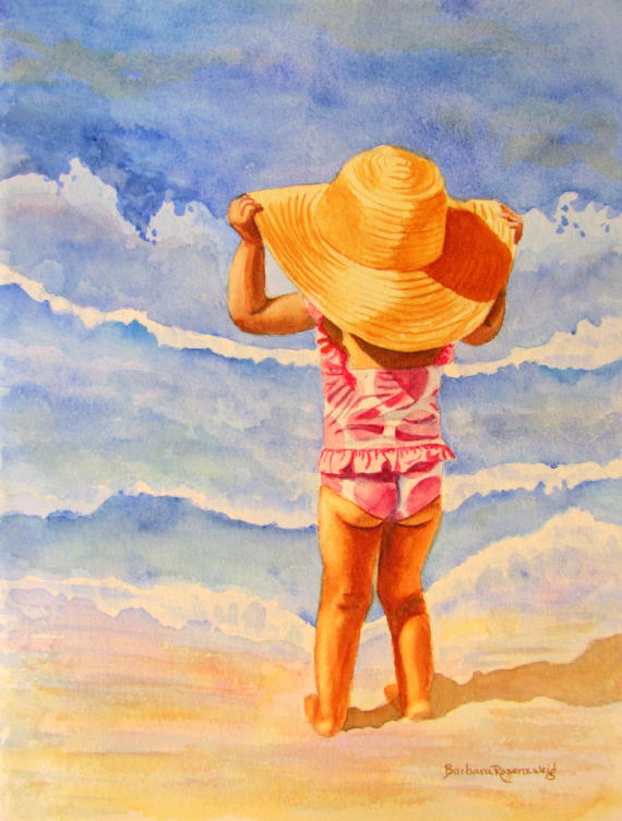Download this Beach Girl With Big Hat And Polka Dots Quot picture