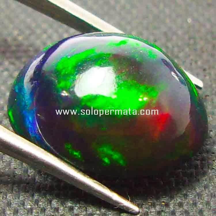 Batu Permata Black Opal Kalimaya - 26B08