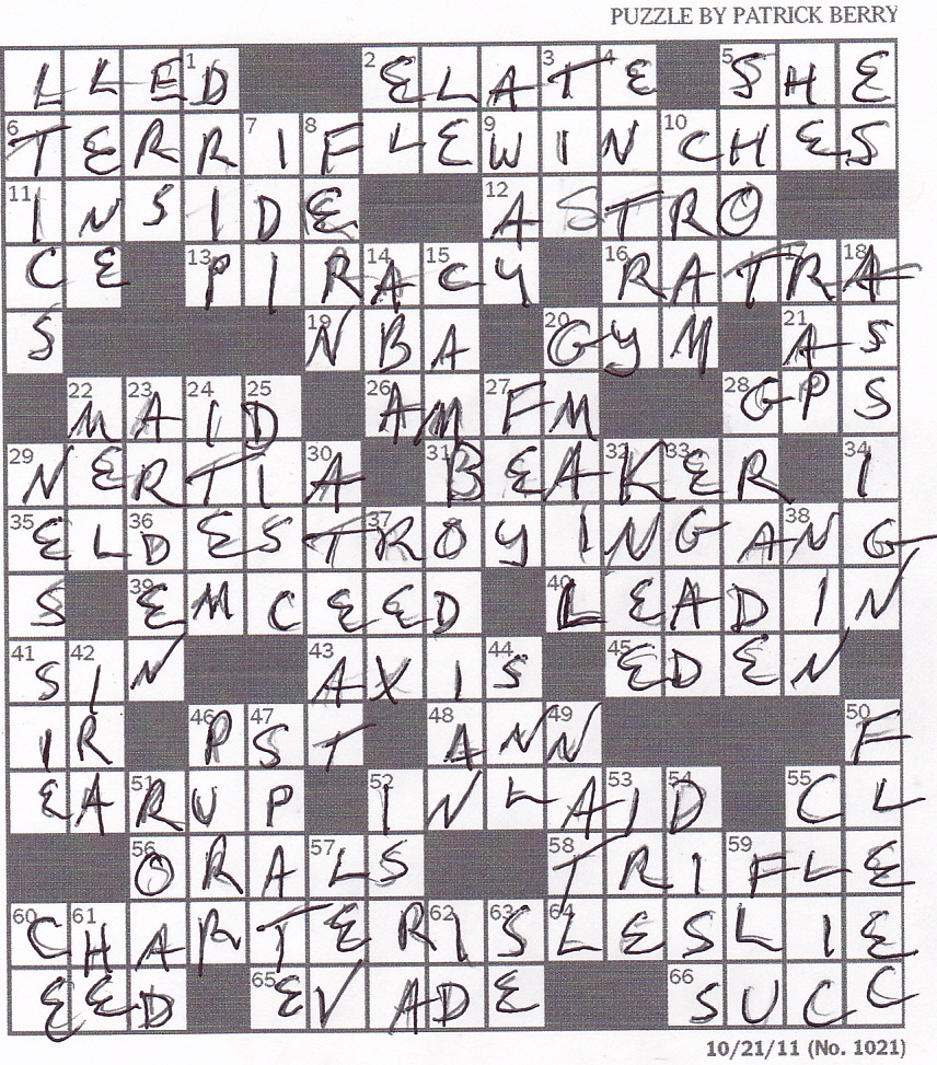 Rex Parker Does The Nyt Crossword Puzzle Poisonous Gilled Mushrooms
