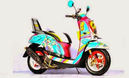 Modification Honda Scoopy FI