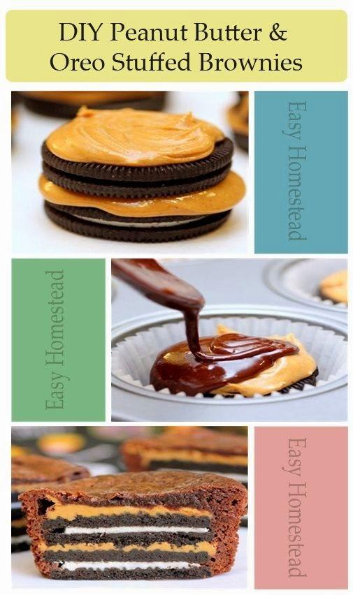 DIY Oreo Peanut Butter Brownies