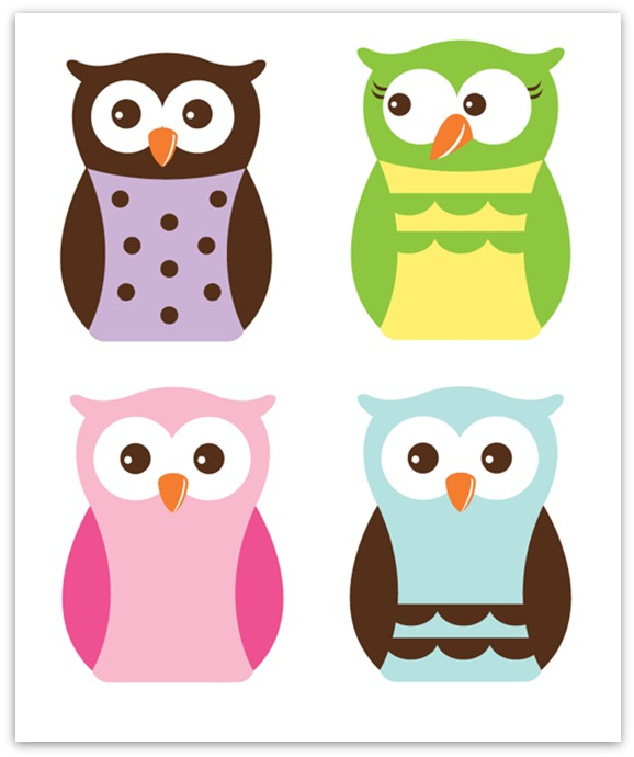 Resource image within printable owl
