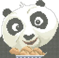 Baby Po cross-stitch pattern preview. Free cross-stitch patterns