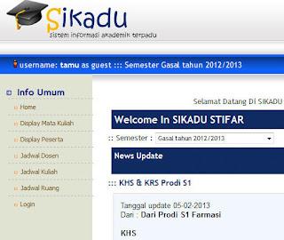 Sikadu STIFAR Yayasan Pharmasi Semarang