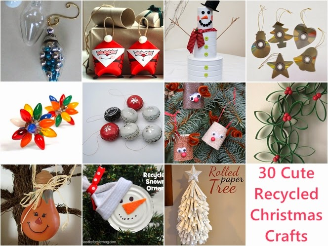 30 Cute Recycled DIY Christmas Crafts Awesome Design