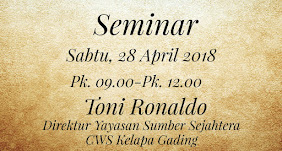 Seminar, Sabtu 28 April 2018 Jam 09.00