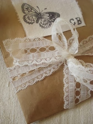 antic lace and gift wrapping