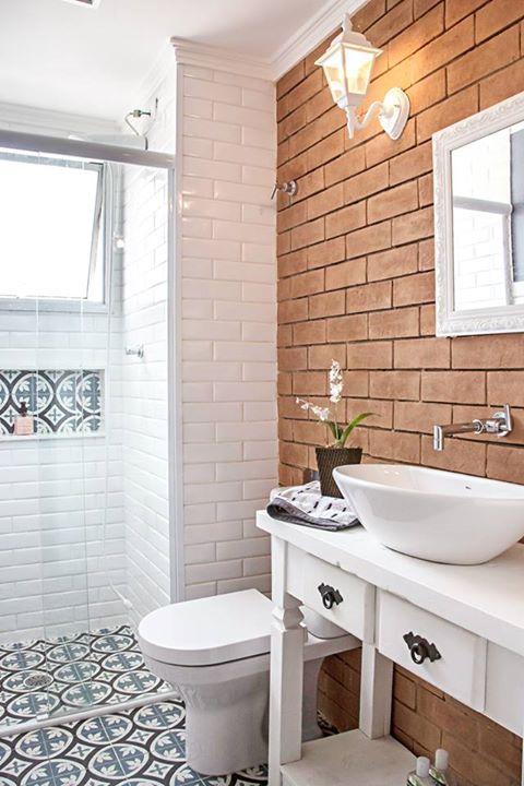10 banheiros e lavabos pequenos reciclar e decorar blog for Fotos lavabos pequenos